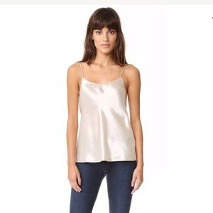 vince Silver Large Satin Camisole NWT